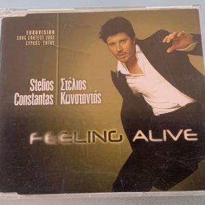 Στέλιος Κωνσταντάς - Feeling alive cd single Eurovision 2003