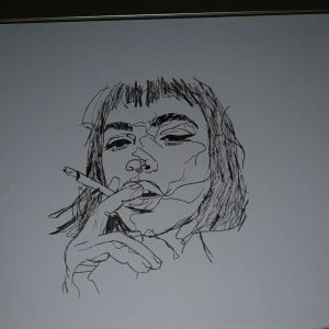 Σχέδιο κοπέλας one-line art