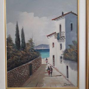 Πωλείται αυθεντικός πίνακας ζωγραφικής του Γιώργου Δεπάστα διαστάσεων 50Χ40