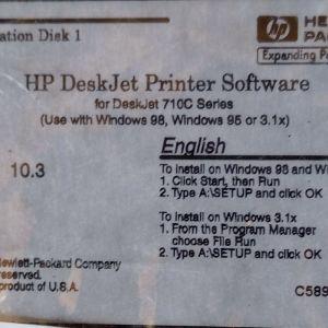 HP DISK FOR DESKJET 710C