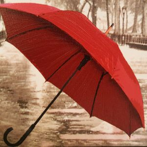 ΠΙΝΑΚΑΣ - Ελαιοτυπία Πολύπτυχο, με θέμα Red Umbrella με την υπογραφή του Καλλιτέχνη Anastasiadis Harry