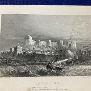 ΤΕΝΕΔΟΣ Το κάστρο χαλκογραφία 1830