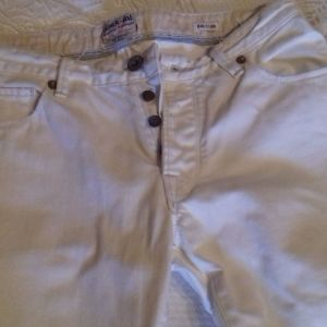 Λευκό τζιν παντελόνι ανδρικό