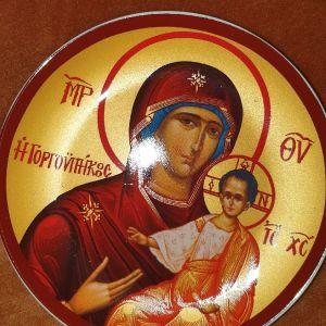 Πορσελάνινο  πιάτο με χριστιανική εικόνα