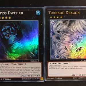 Abyss Dweller Super Rare + Tornado Dragon Ultra Rare