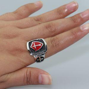 Ατσαλινο Δαχτυλιδι Σταυροφορων