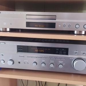 Ραδιοενισχυτης  YAMAHA NATURAL SOUND STEREO RX 497. CD PLAYER NATURAL SOUND CDX-397 MK2
