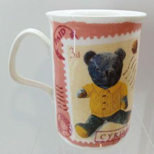 ΚΟΥΠΑ MUG TEA COFFEE CUP GIFT - ROY KIRKHAM TEDDY POST BEAR