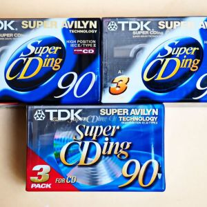 Κασέτες ήχου σφραγισμένες, Χρωμίου 9 τεμ. TDK C90