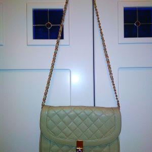 Τσάντα δερμάτινη τύπου chanel
