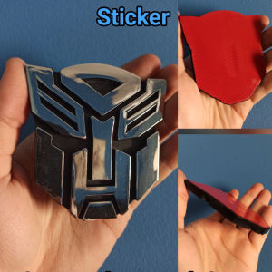 Transformers Autobots 3d Plastic Sticker Αυτοκόλλητο λογότυπο Autobot
