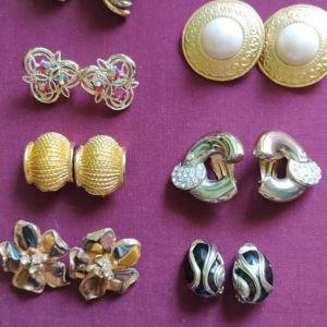 Vintage σκουλαρίκια κλίπ ( ανα ζευγάρι).