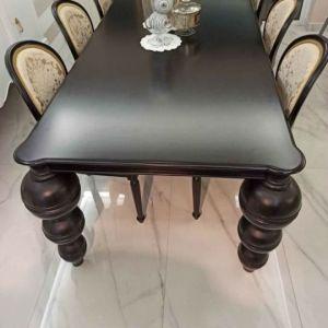 Τραπεζαρία, με 6 καρέκλες Mexil ιταλικές σκαλιστές ξύλινες, τιμή ευκαιρίας
