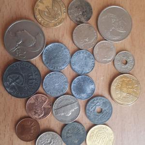 Νομίσματα ξένα ναζιστικά, ελληνικά και ξένα.