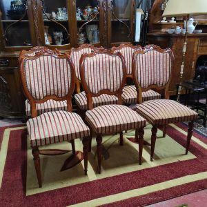 Εξάδα Καρέκλες από μασίφ ξύλο