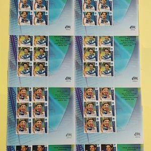 2004 ΚΟΜΠΛΕ Set17 Φυλλα & με ΣΑΜΠΑΝΗ A4 AMAE-DI Με Ακρόπολη Ελλήνων Ολυμπιονικών των  20  γραμματοσήμων.
