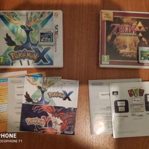 3DS GAMES :   Pokemon X + Zelda : A LINK BETWEEN WOLRDS