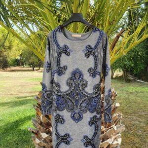 Μάλλινο φόρεμα σε εφαρμοστή γραμμή