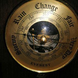 Θερμόμετρο - Βαρόμετρο αντίκα