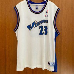 Φανέλα - Εμφάνιση Michael Jordan 23 Washington Wizards Jersey NBA Size 48 XL Champion Authentic