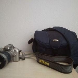 αναλογική φωτογραφική μηχανή-nikon f55 με φακό af zoom-nikkor,28-100mm,f/3.5-5.6G