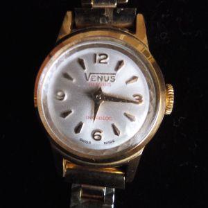 Αντίκα Ελβετικό Venus Incabloc 19rubis γυναικείο ρολόι.Νεα τιμή!!!