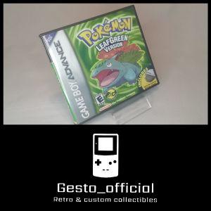 Pokemon Leaf Green Gameboy Advance custom case