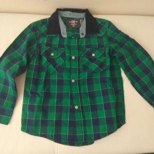 Πουκάμισο, ζακέτα και μπλούζες Νο 4-5y (110cm).Δώρο η βερμούδα.