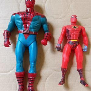 2 vintage  μεγάλες φιγούρες spiderman