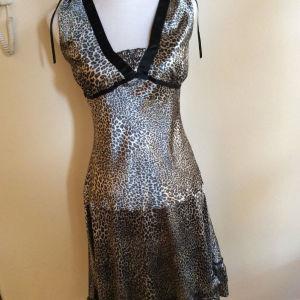 Σατέν φόρεμα animal print