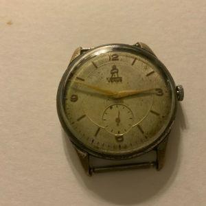 Ρολόι χειρός Venus κουρδιστό μεγάλο μέγεθος αντρικό 1960