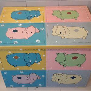 Παιδικό ξύλινο κουτί αποθήκευσης