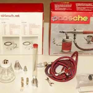 Σύστημα Αερογράφου Paasche airbrush set - Double action internal mix - όπως καταγράφεται στην εικόνα