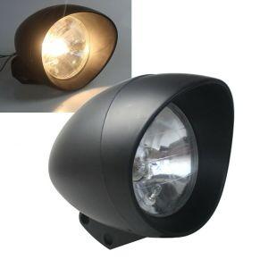 """φανάρι 17εκ. - 7"""" Black Headlight Halogen Headlamp Bullet Light Plsatic  For Harley Honda Yamaha"""