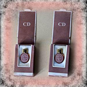 Άρωμα Γαλλικό του Cristian Dior, παλαιό συλλεκτικό, 2 σε μίνι συσκευασία