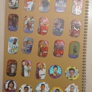 18 μεταλλικές τάπες ποδοσφαίρου + 7 τάπες ποδοσφαίρου cheetos
