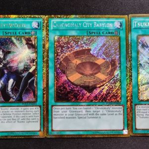 Gold Secret Rare Spell Cards set