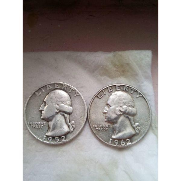 1/4 dolariou 1952, 1962