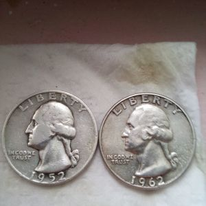 1/4 Δολαριου 1952, 1962