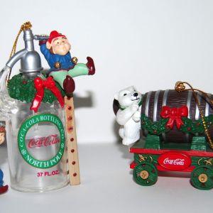 2 Vintage Coca-Cola Χριστουγεννιάτικες Μινιατούρες