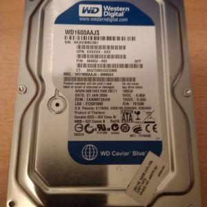 Σκληρός δίσκος εσωτερικός Western Digital Sata, 160GB.