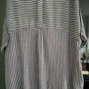 Ριγέ φόρεμα-πουκαμισα S
