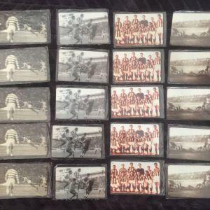 Σφραγισμενες Προπληρωμένες κάρτες αφιερωμα της ιστορίας του Ολυμπιακού 6/25 (3000 τιραζ) έμειναν 3 εξαδες