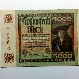 ΓΕΡΜΑΝΙΑ 5.000 Mark 1922