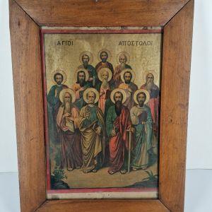 Εκκλησιαστικη εικόνα Άγιοι Απόστολοι εποχής 1950