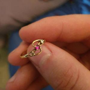 Χρυσό δαχτυλίδι με ζυργκόν 14κ ( για λεπτά δάχτυλα )