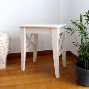 INGOLF σκαμπό λευκό από μασίφ ξύλο IKEA