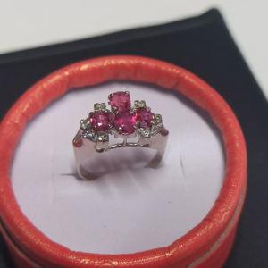 λευκόχρυσο δαχτυλίδι 14Κ