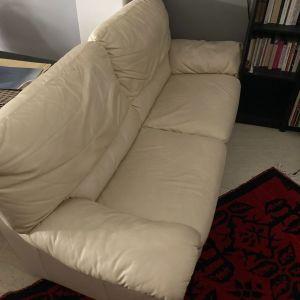 Διθέσιος δερμάτινος καναπές + Πολυθρόνα relax