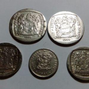 ΝΟΤΙΑ ΑΦΡΙΚΗ ΛΟΤ 5 Νομισμάτων
